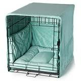 Plush Dog Crate Cover - Sea Foam Blue/Large