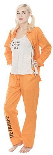 Suicide Squad Harley Quinn Bravo Detainee 3 piece Womans Costume Set (Small)