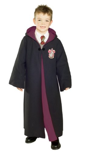 Rubies Costume Deluxe Harry Potter Child's Costume Robe With Gryffindor Emblem, Small