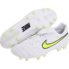 Nike Fußballschuhe Tiempo Mystic III FG weiß, Größe:US 9 (42.5)