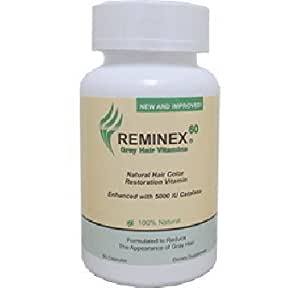 anti gray hair vitamin by reminex 60 enriched with catalase saw palmetto he shou wu vitamin