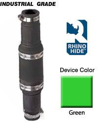 Leviton 49M64-G Rhino-Hide 49 Series Single Pole Male Connector, Industrial Grade, Crimped, 646 MCM Cable, Green