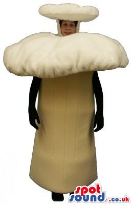 big forest beige mushroom plush spotsound us mascot costume or halloween costume niftywarehousecom