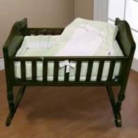 Amazon.com : Lucillia Cradle Bedding - Color: Sage Size ...