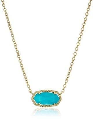 Kendra-Scott-Signature-Elisa-Gold-plated-Turquoise-Magnesite-Pendant-Necklace