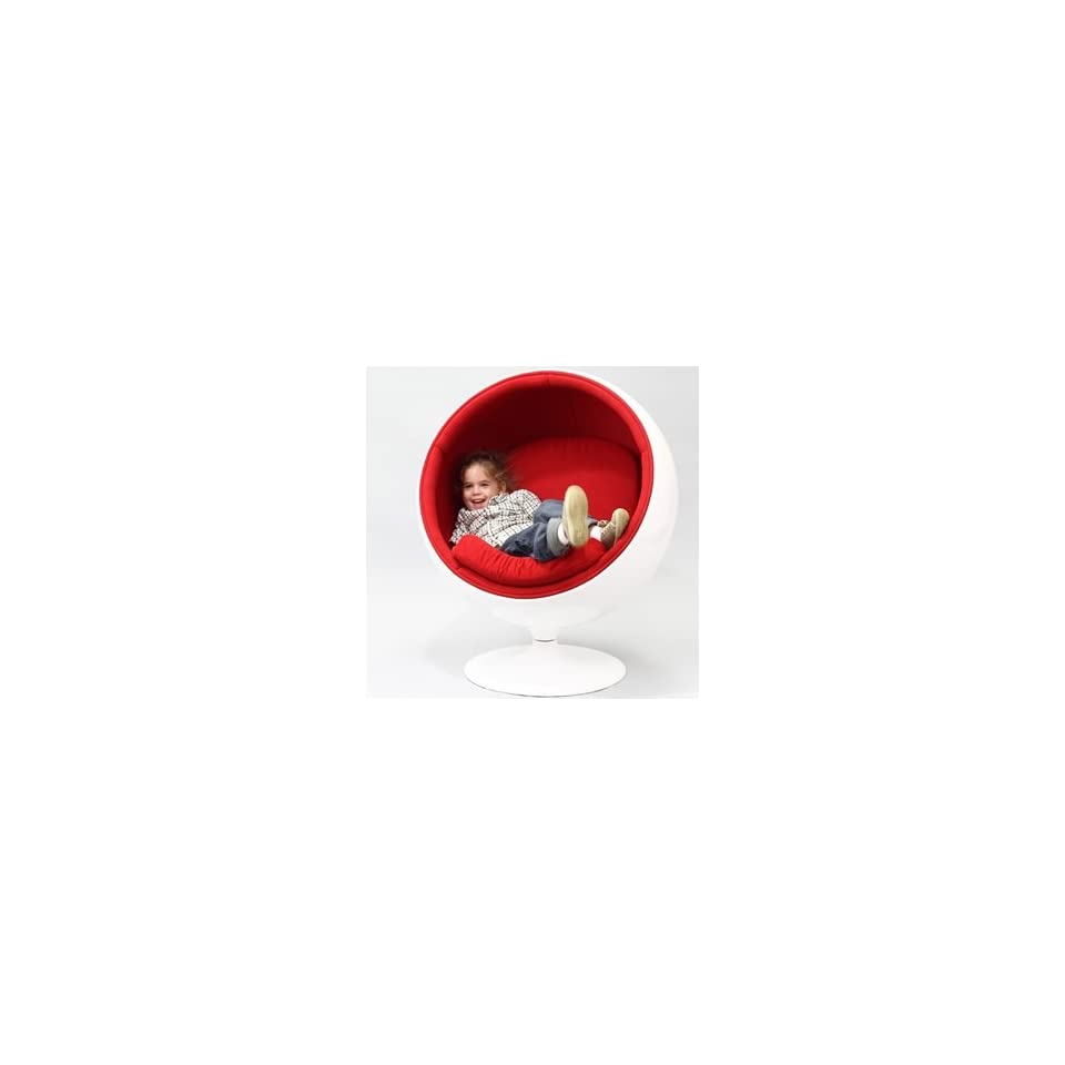 Kids Ball Chair Eero Aarnio Style Kids Ball Chair In Red On Popscreen