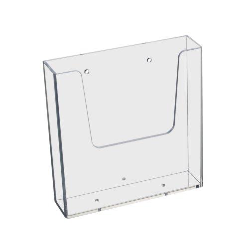 DIN A5 (148x210mm) Wand-Prospekthalter im Hochformat, transparent