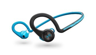 Wireless earbuds for running with stop/play button on the left
