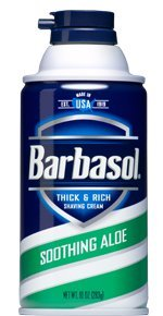 Barbasol Thick and Rich Shaving Cream For Men, Soothing Aloe, 10 Ounce