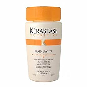 Kerastase Nutritive Bain Satin 2 Complete Nutrition Shampoo for Dry and Sensitized Hair, 8.5-Ounce Bottle
