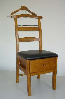 bedroom wardrobe chair valet barrel style cane back men's clothing chairs & suit hanger - gentleman's