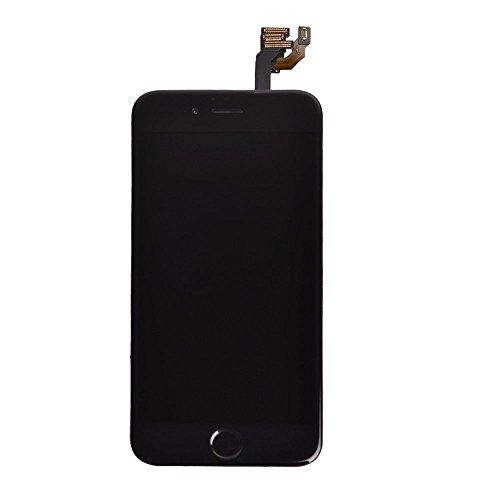 Super LCD ShopiPhone 6P 5.5 フロントパネル カスタムパーツ 液晶パネル LED スクリーン 修理パーツ(ホームボタン +スピーカー +フロントカメラ)(ブラック)