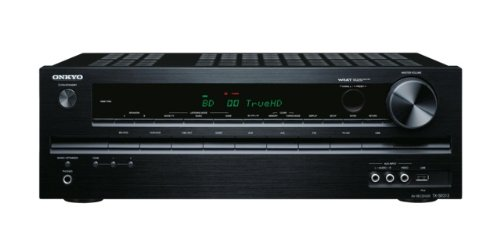 Onkyo TX-SR313 5.1 AV-Receiver für Apple iPhone/iPod (HD-Audio, 3D Ready, RDS, USB 2.0) schwarz