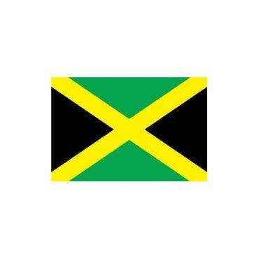 ジャマイカ 国旗 [ ミニフラッグ ポール 吸盤付き 高級テトロン製 ]