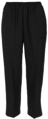 Alfred-Dunner-Polyester-Pull-On-Pants-Petite-Black-16P