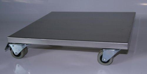 Möbelroller / Pflanzenroller 30x30 cm, Edelstahl, 300kg, Doppelrollen