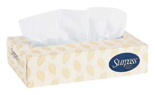 Surpass Facial Tissue Flat Box 21390 2Ply White