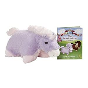 "My Pillow Pets Book Engardia And 17"" Lavender Unicorn Pillow Pet"
