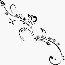 1 Stck Autoaufkleber Blumenranke Design Annika 55 cm