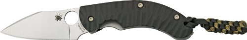 Spyderco Perrin PPT Black G-10 PlainEdge Knife