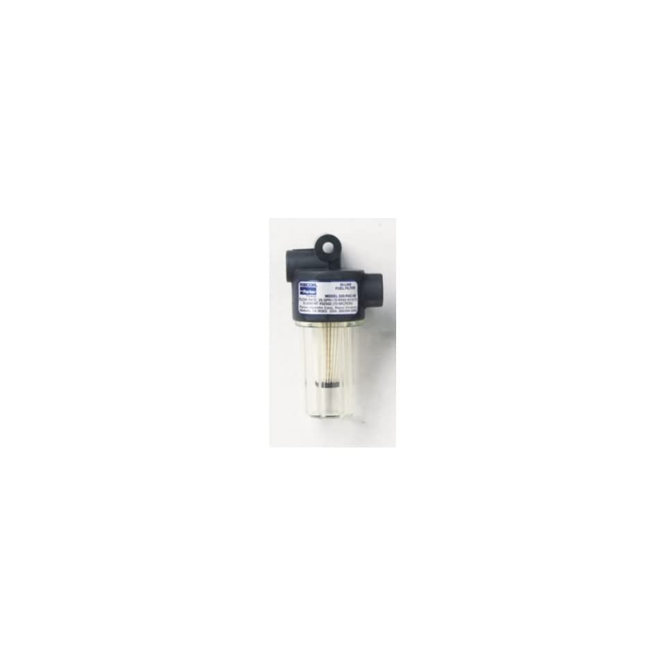 medium resolution of in line gasoline fuel filter 250 micron size 2 25 x 4 25 filter cleanable plastic by parker hannifin corp racor