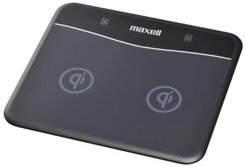 maxell 「Qi」規格ワイヤレス充電器ステーション デュアルタイプ WP-PD10.BK