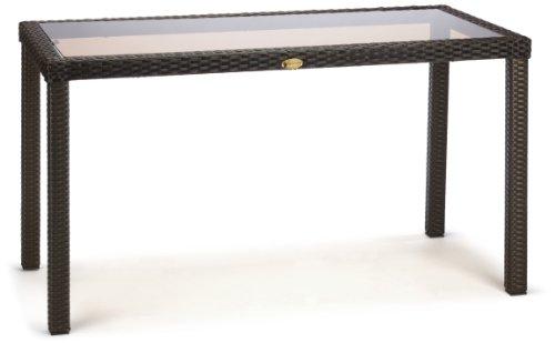 Ambientehome 63757 Polyrattantisch Lubango Esstisch ca. 140 x 70 cm, Polyrattan, schwarz