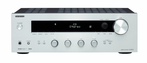 Onkyo TX-8030 Stereo-Receiver (130 W/Kanal, RDS Tuner, Zone 2, Subwoofer Pre-Out, Lautsprecher A/B) silber