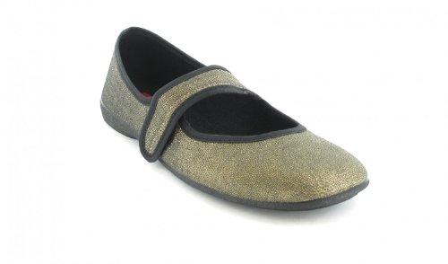 Ballerinas Damen Schuhe XXL Freizeitschuhe Übergrössen Gold