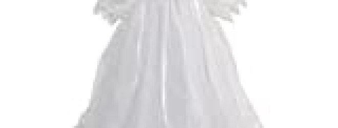 Baby Girls Size 3-9M Circle Skirt Christening Baptism Gown w/ Bonnet