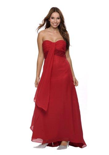 Langes Abendkleid im Empire Stil, Gr.42, Farbe rot