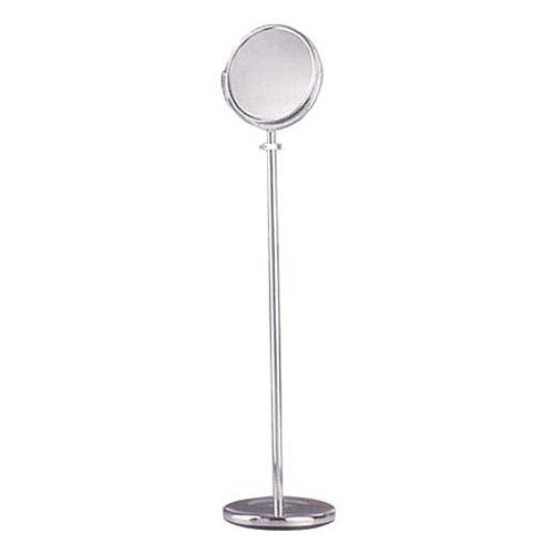 Bathroom Mirrors Mirror Adjustable Floor Stand  Chrome