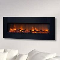 ClassicFlame 48-Inch Curved Black Wall Mount Electric ...