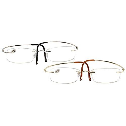 LianSan Titanium Lightweight Reading Glasses Men Womens
