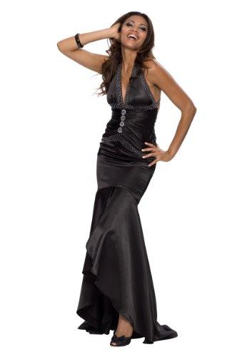 Elegantes langes Abendkleid, Farbe schwarz, Gr.44 von Astrapahl