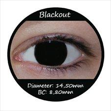 Farbige Kontaktlinsen Schwarz Blackout Halloween Fasnachtslinsen farbige Kontaktlinsen