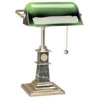 Desk Lamps: North Dakota - Solid Brass Bankers Lamp