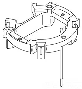 Wiremold 881ADP Walker PVC Floor Box Adapter Plate