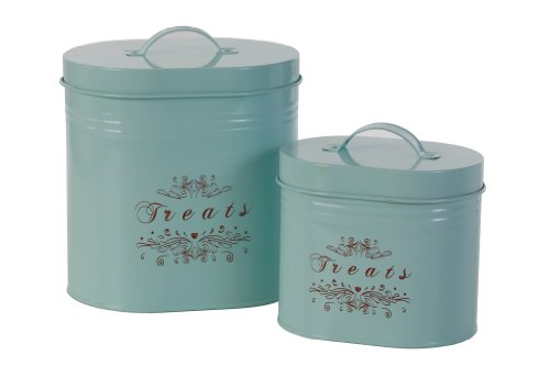 One for Pets Treats Canister Set, Blue