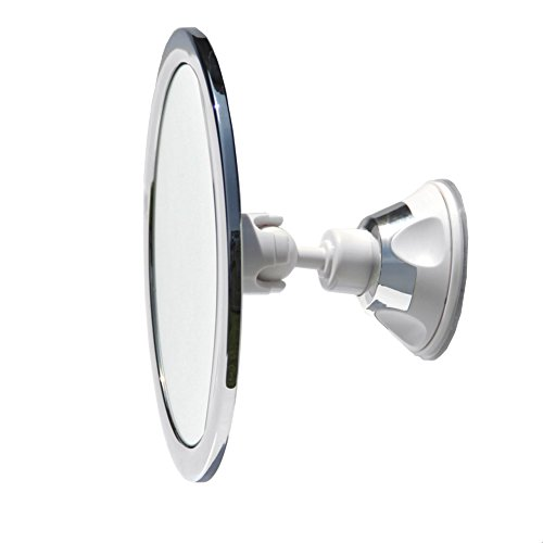 3x Magnification No Fog Shower Mirror with Rotating