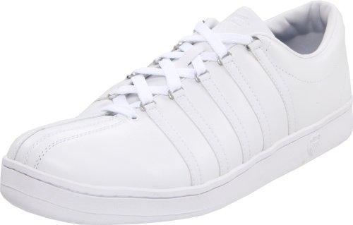 K-Swiss 02248-101-M THE CLASSIC, Herren Sneaker, Weiss (white/white), EU 42.5, (UK 8,5)
