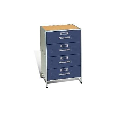 Amazoncom  American Furniture Alliance Furniture Locker 4 Drawer Dresser Blue