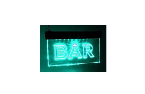 LED-Schild BAR, Farbe blau, 6 LEDs