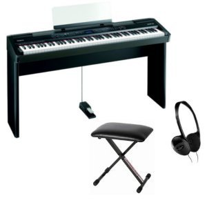 Roland FP-7 Digital Piano Package - Includes Bench, Headphones, and Matching Stand
