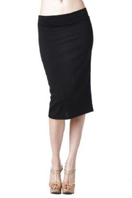 82-Days-WomenS-Ponte-Roma-Regular-To-Plus-Below-Knee-Pencil-Skirt-Black-XL