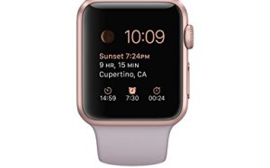 Apple 1.49-Inch Sport Smart Watch - Rose Gold Aluminum Case with Lavender Band