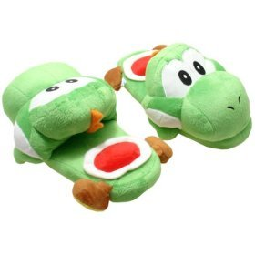 Super Mario Brothers: Green Yoshi Slippers Plush
