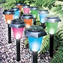 10 Pack of Colour Changing & White Solar Lights
