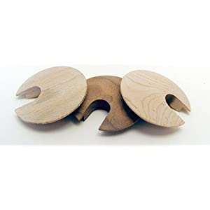 "Vendor: Drill 2 1/2"" diameter hole Real wood grommets - Unfinished"