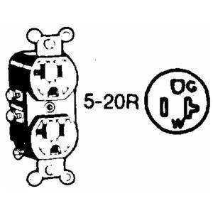 Leviton 5800-SP 20-Amp, 125-Volt, Receptacle Duplex, Self-Grounding, Brown